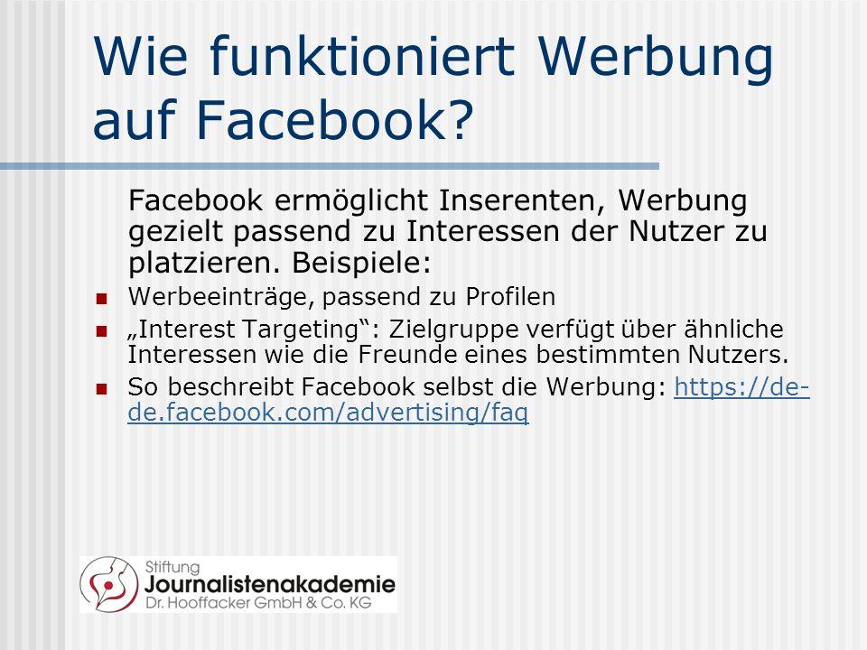 Wie funktioniert Werbung auf Facebook