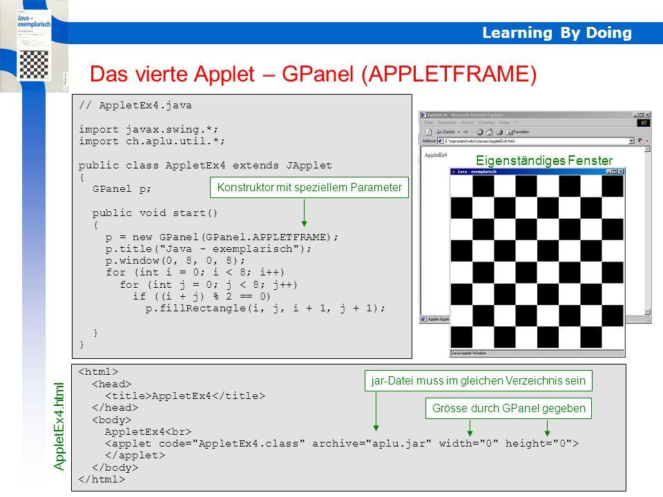 AppletEx4 – GPanel APPLETFRAME