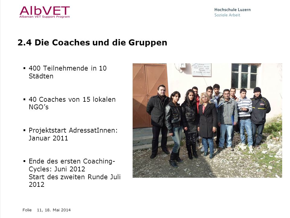 2.4 Die Coaches und die Gruppen