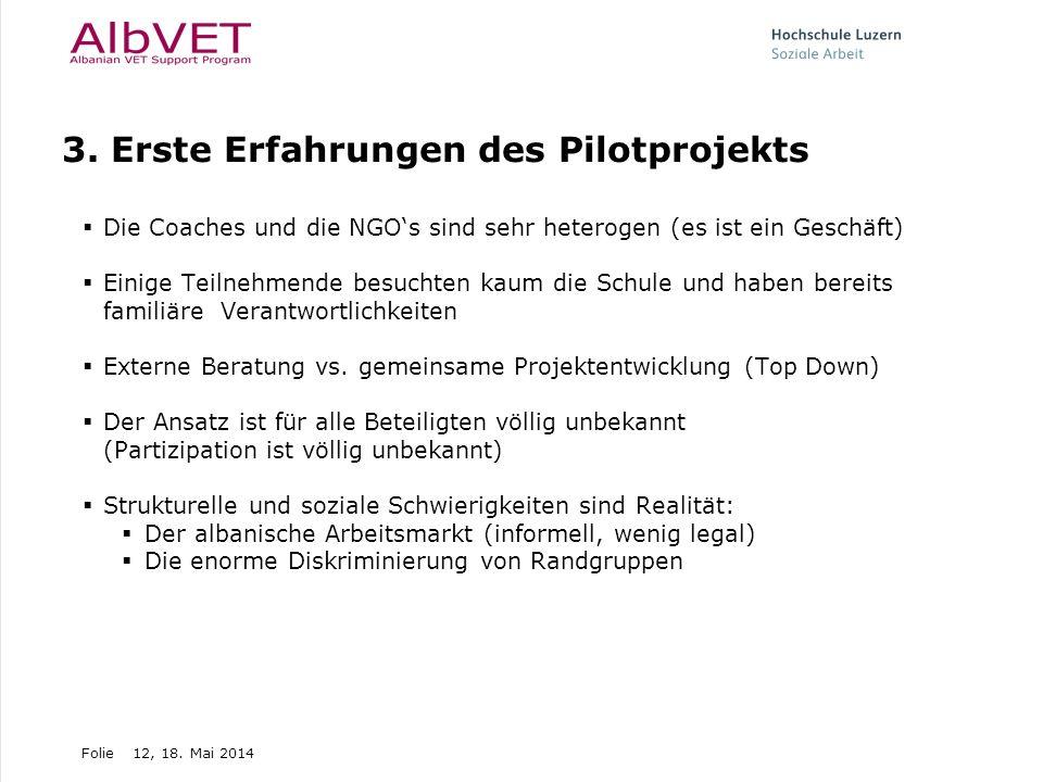 3. Erste Erfahrungen des Pilotprojekts