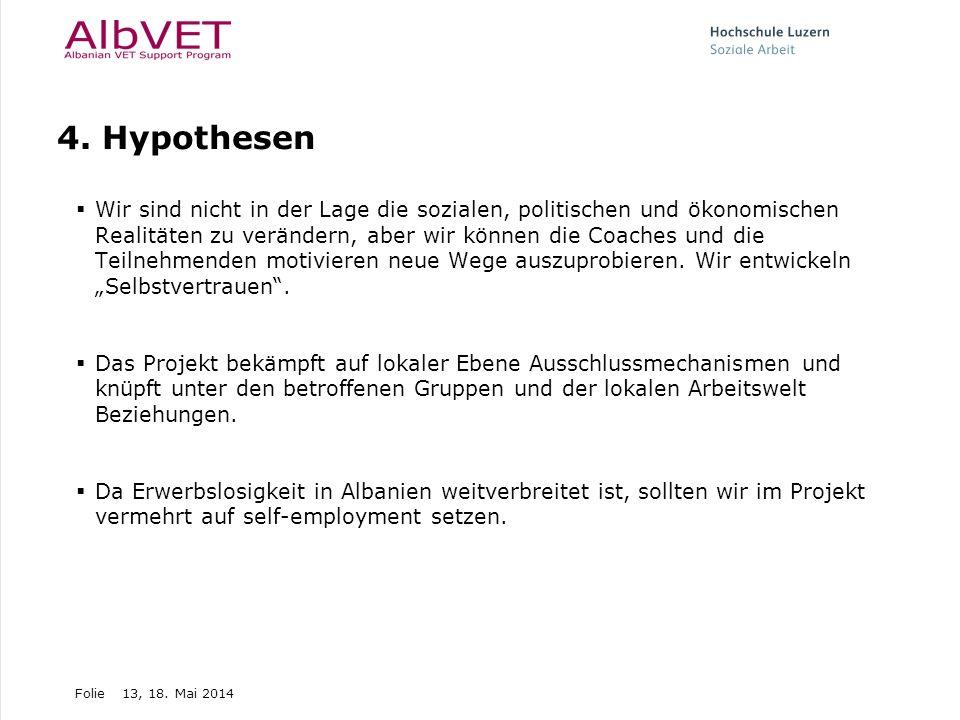 4. Hypothesen