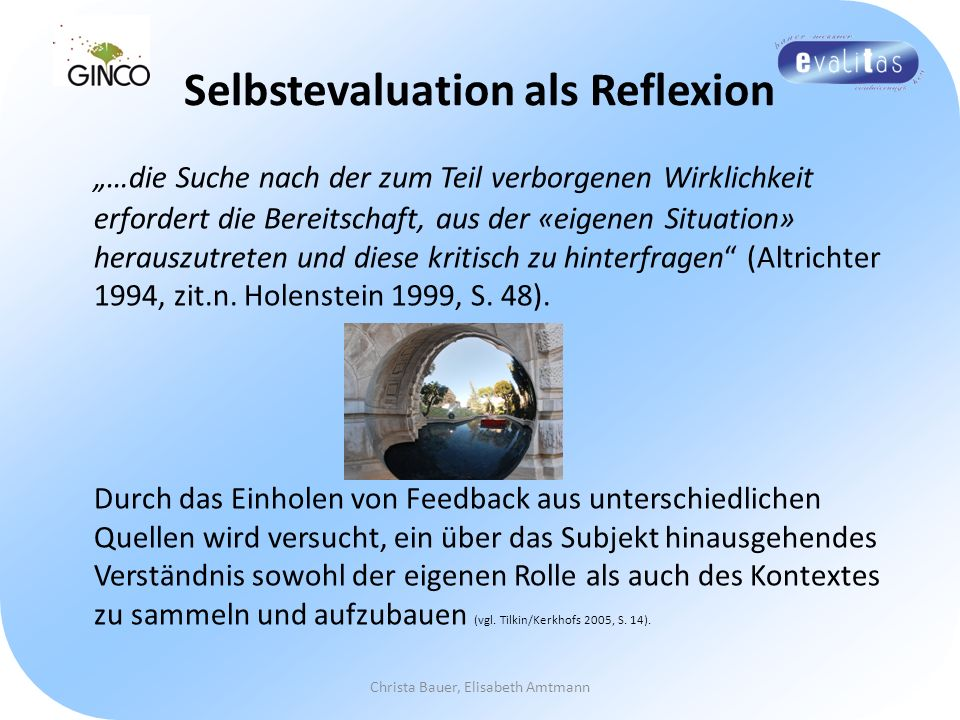 Selbstevaluation als Reflexion