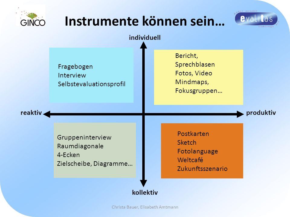 Instrumente können sein…