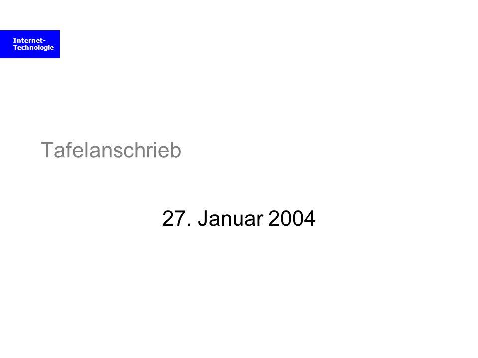 Tafelanschrieb 27. Januar 2004