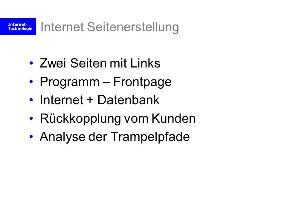 Internet Seitenerstellung