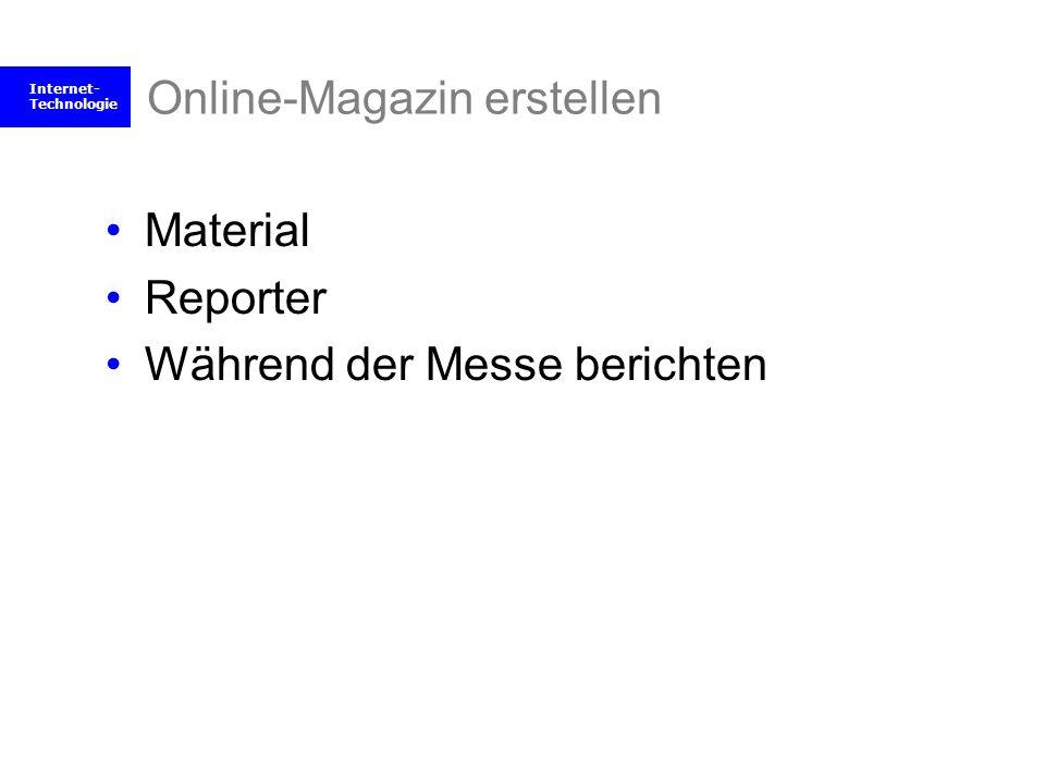 Online-Magazin erstellen