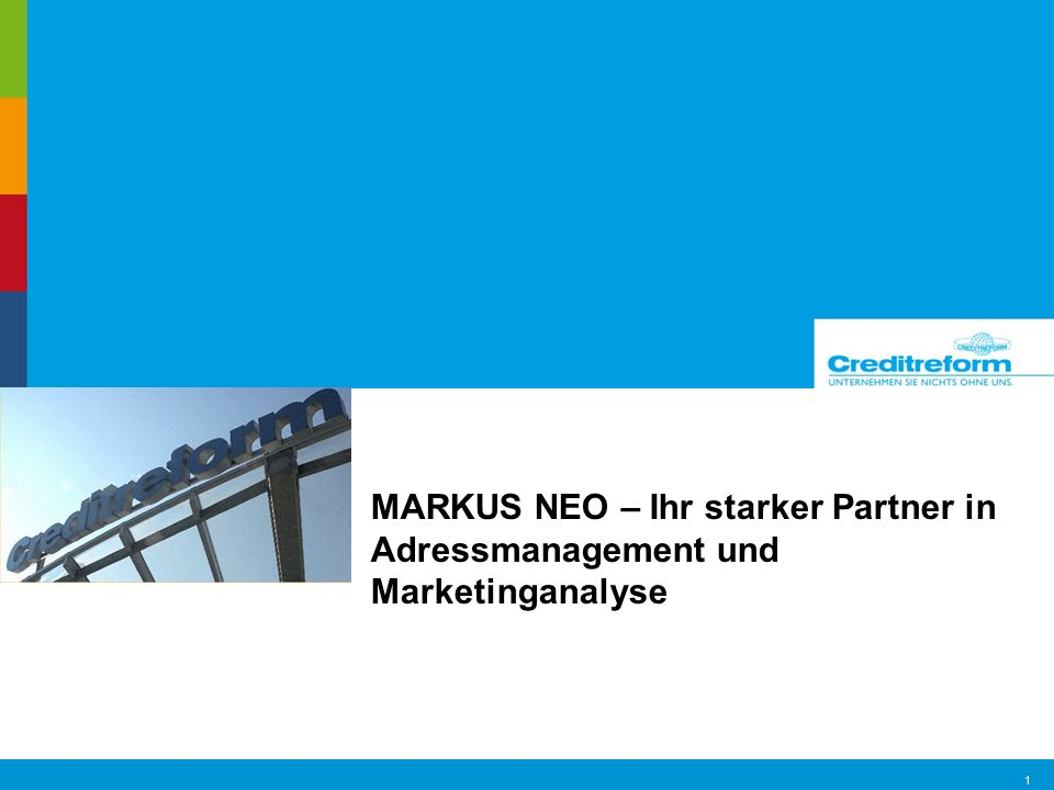 MARKUS NEO – Ihr starker Partner in Adressmanagement und Marketinganalyse