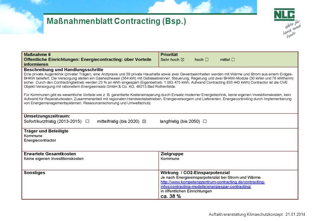 Maßnahmenblatt Contracting (Bsp.)