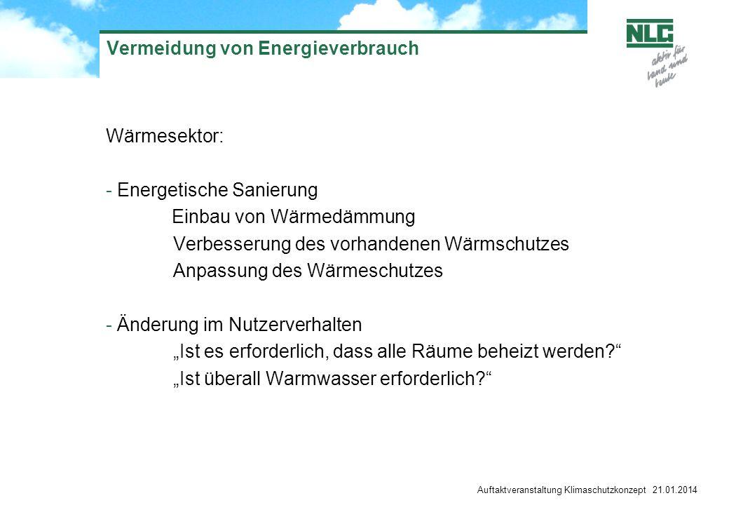 Vermeidung von Energieverbrauch