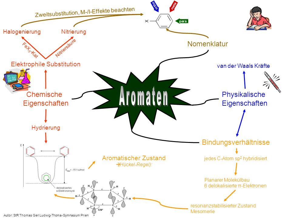 Aromaten Nomenklatur Chemische Physikalische Eigenschaften