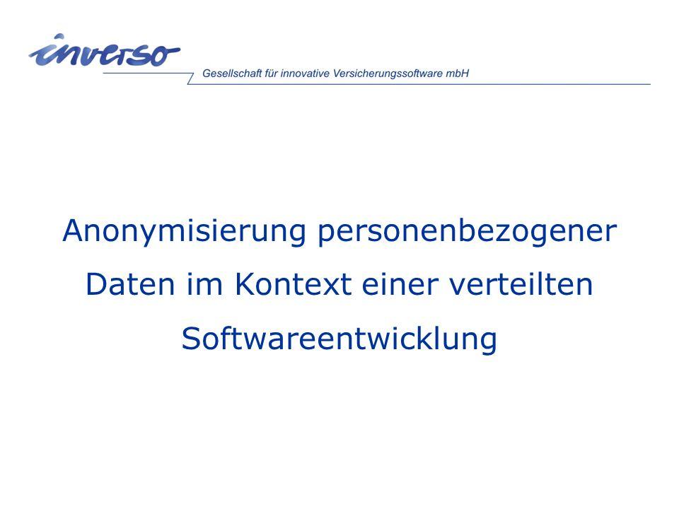 Inhaltsverzeichnis Vorstellung der Firma Inverso Datenschutz: Warum