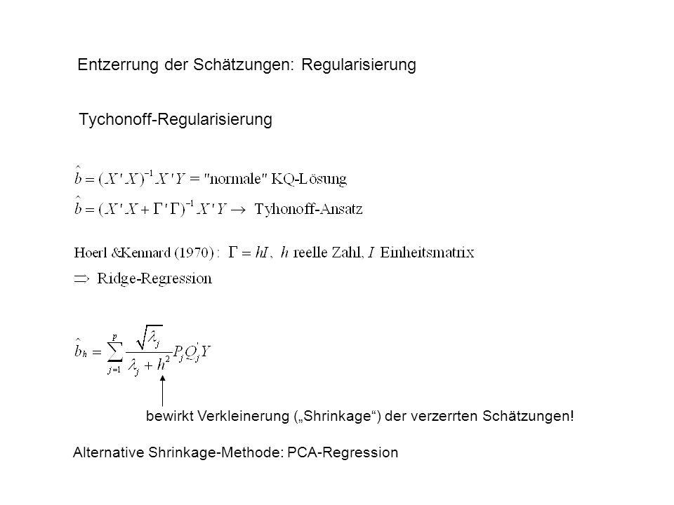 Entzerrung der Schätzungen: Regularisierung