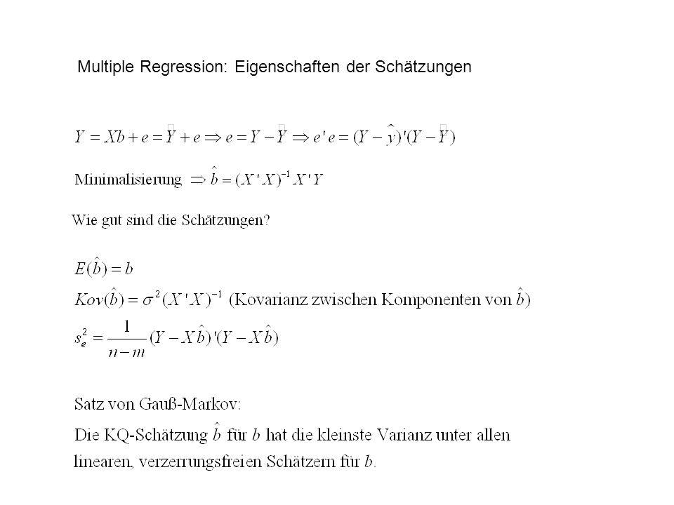 Multiple Regression: Eigenschaften der Schätzungen