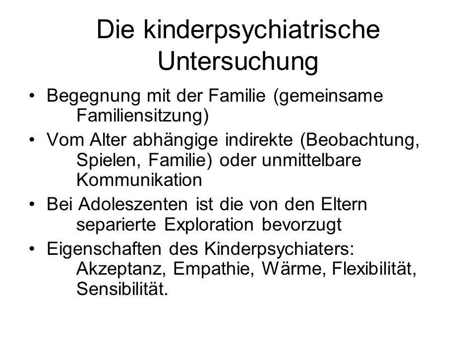 Die kinderpsychiatrische Untersuchung