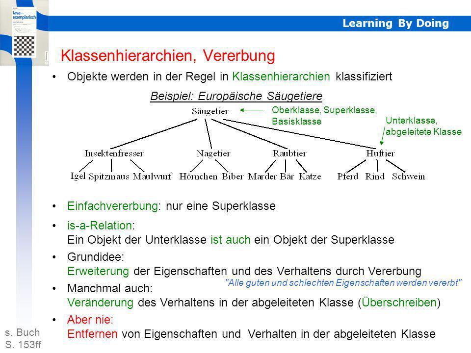 Klassenhierarchien, Vererbung