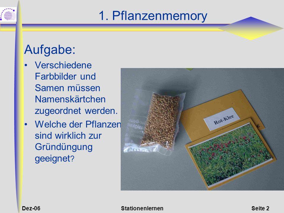 1. Pflanzenmemory Aufgabe: