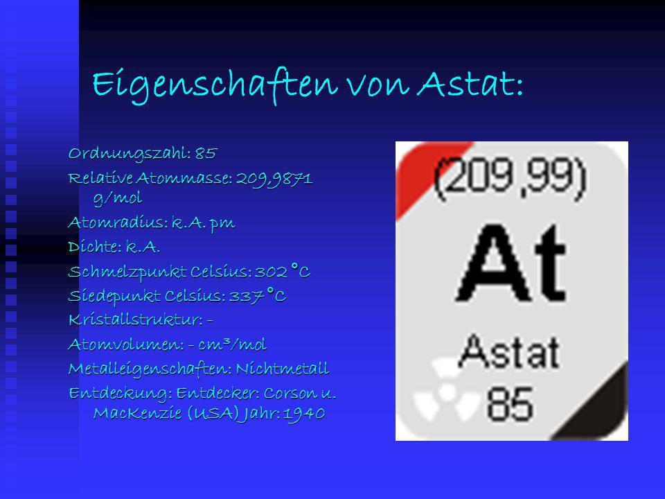 Eigenschaften von Astat: