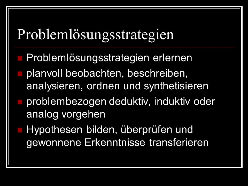 Problemlösungsstrategien