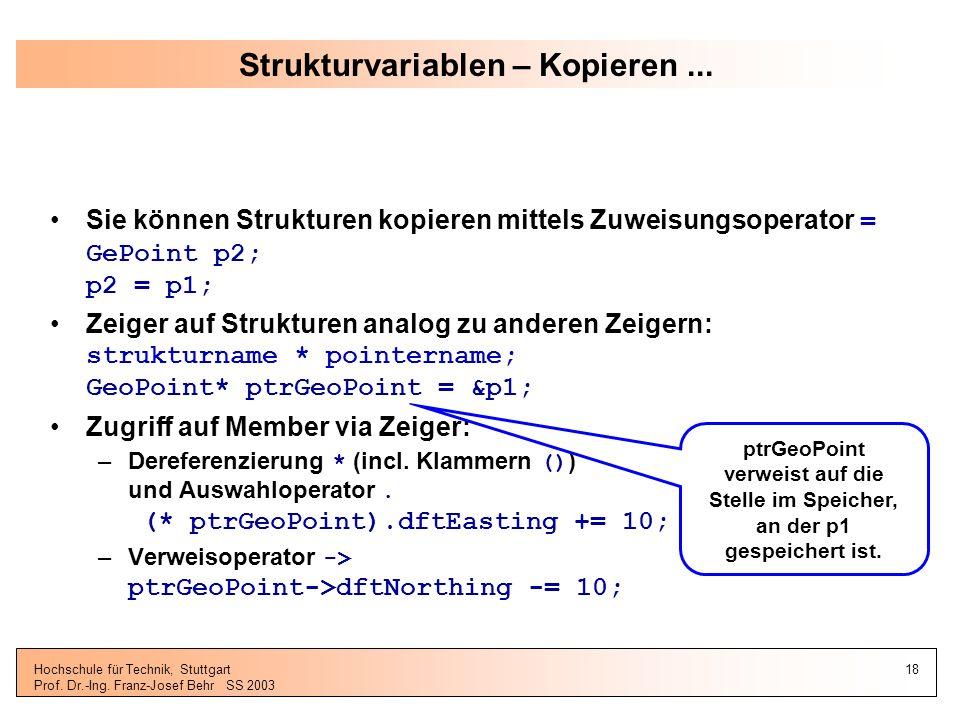 Strukturvariablen – Kopieren ...
