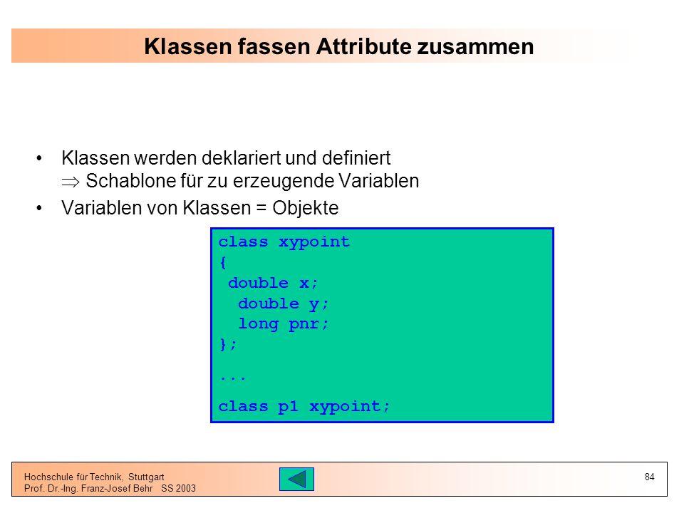 Klassen fassen Attribute zusammen
