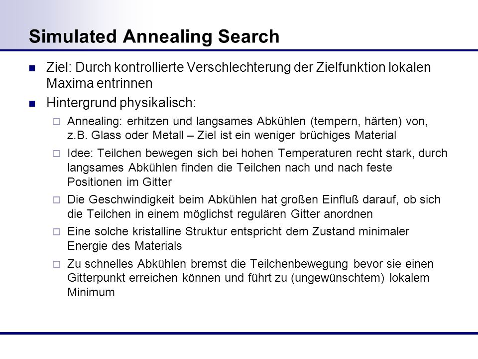 Simulated Annealing Search