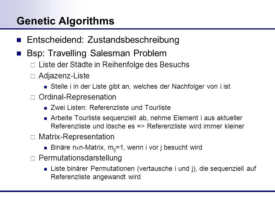 Genetic Algorithms Entscheidend: Zustandsbeschreibung
