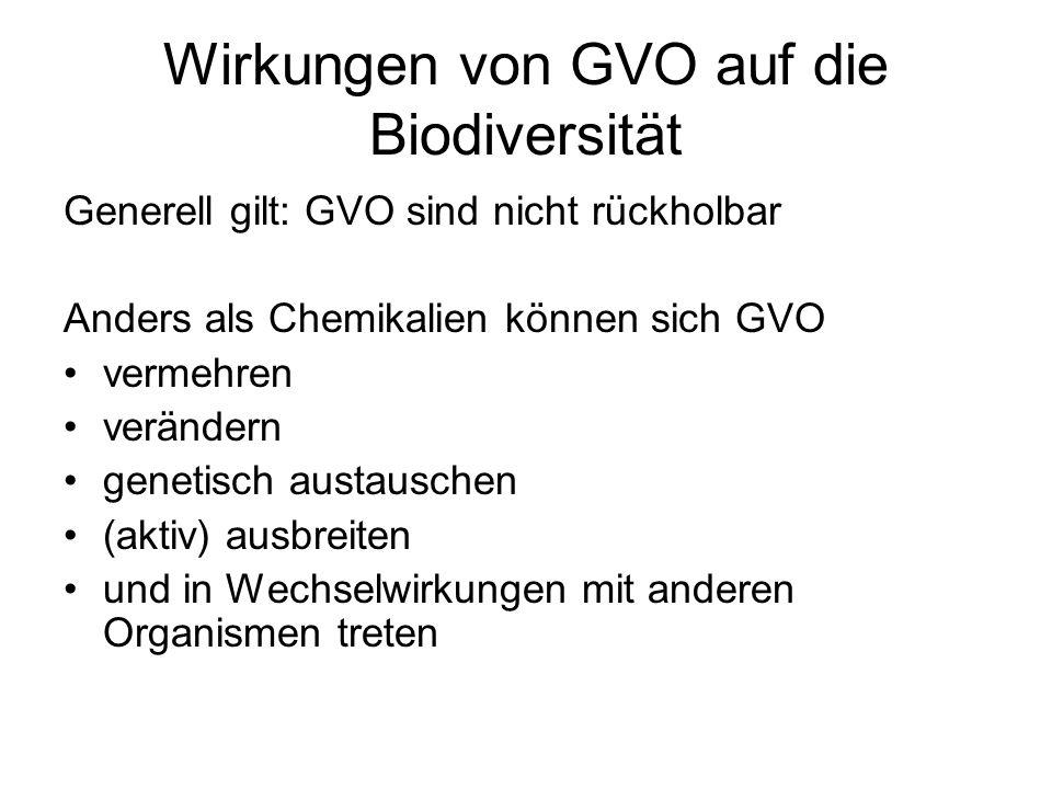 Wirkungen von GVO auf die Biodiversität