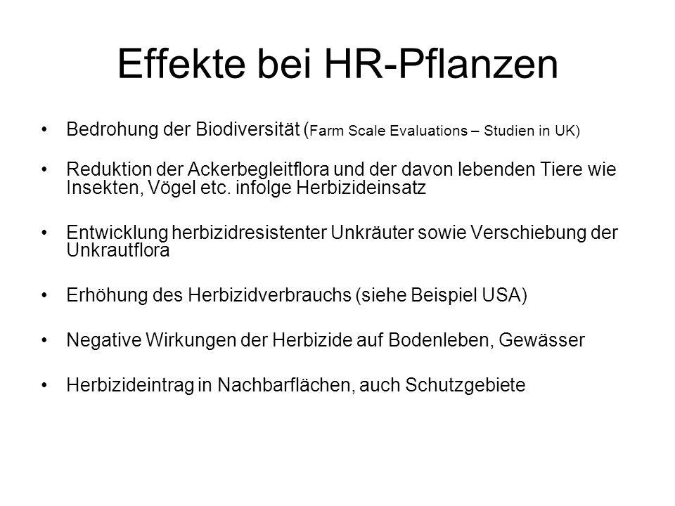 Effekte bei HR-Pflanzen