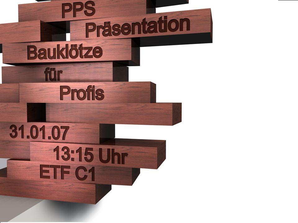 PPS Präsentation -> Wikommen
