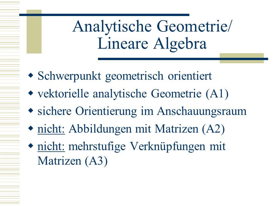 Analytische Geometrie/ Lineare Algebra