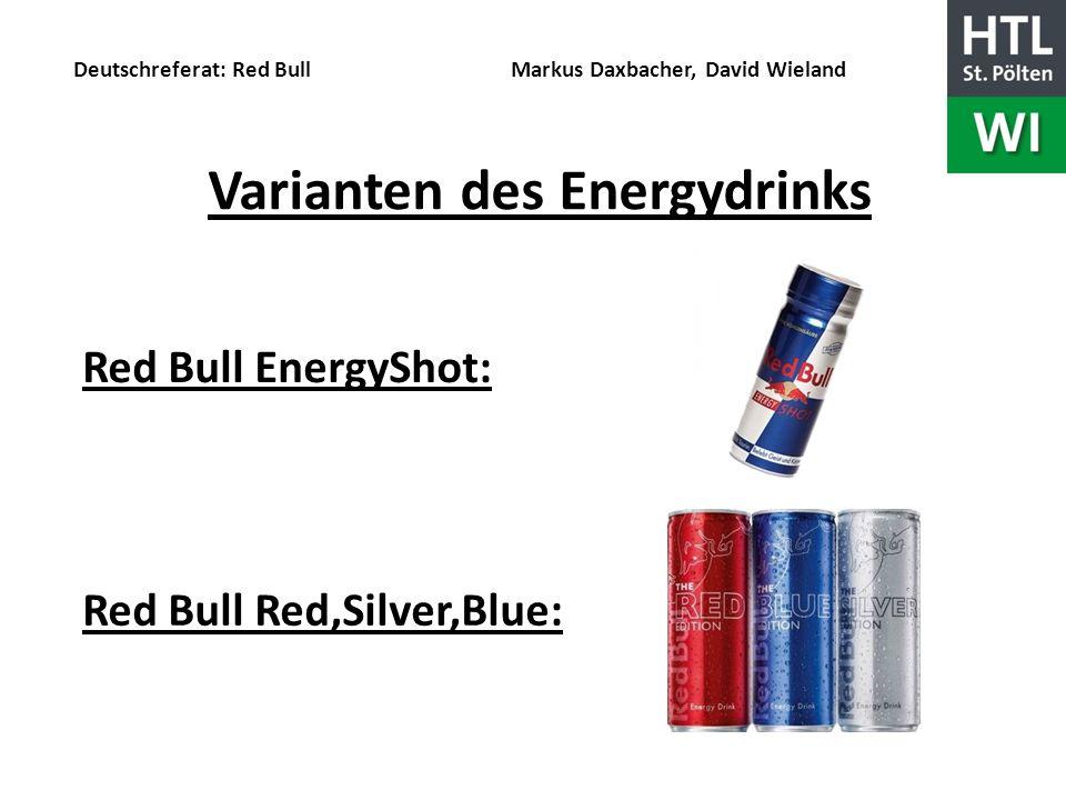 Varianten des Energydrinks