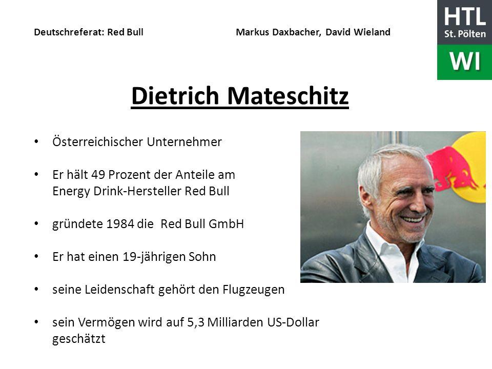 Dietrich Mateschitz Österreichischer Unternehmer