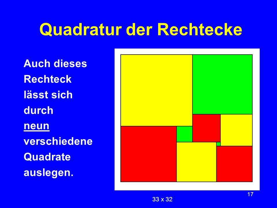 Quadratur der Rechtecke