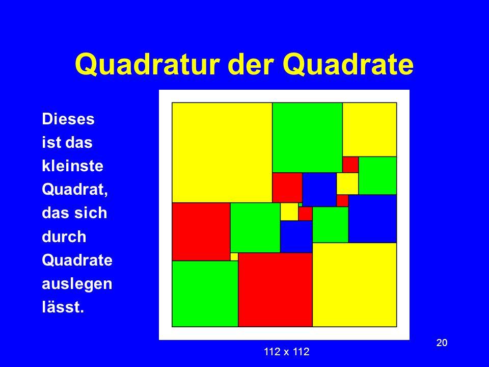 Quadratur der Quadrate