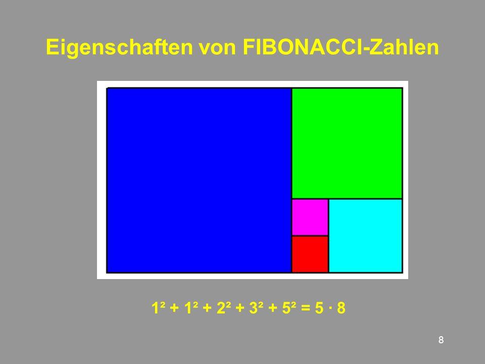 Eigenschaften von FIBONACCI-Zahlen