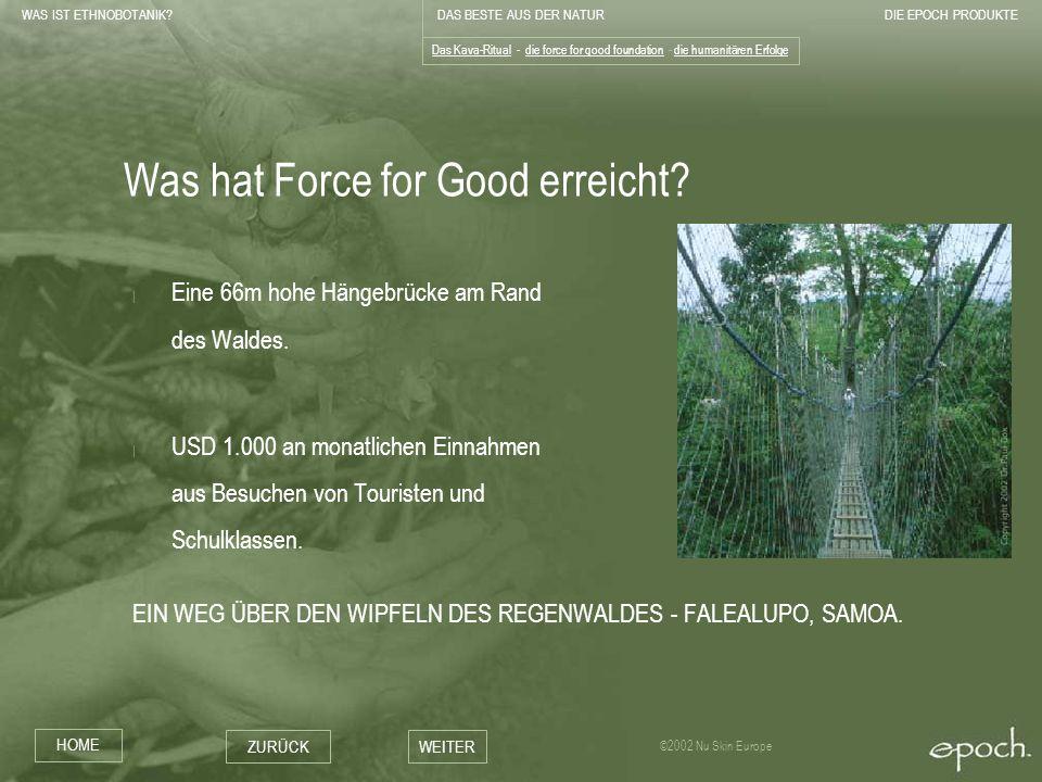 Was hat Force for Good erreicht