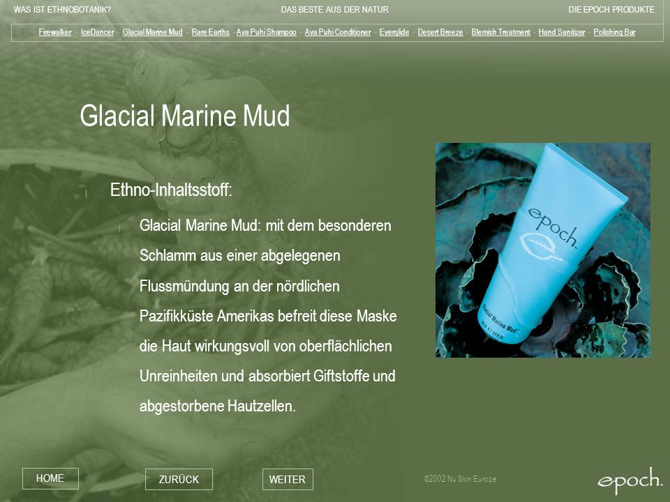 Glacial Marine Mud Ethno-Inhaltsstoff: