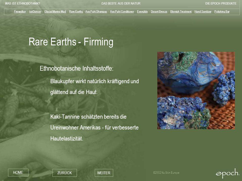 Rare Earths - Firming Ethnobotanische Inhaltsstoffe: