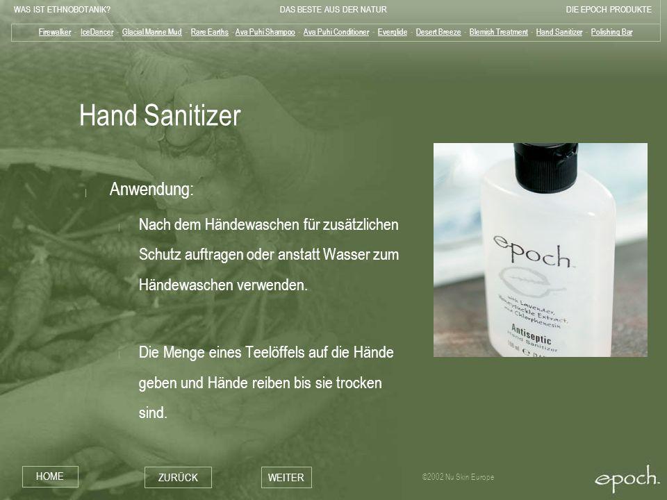 Hand Sanitizer Anwendung: