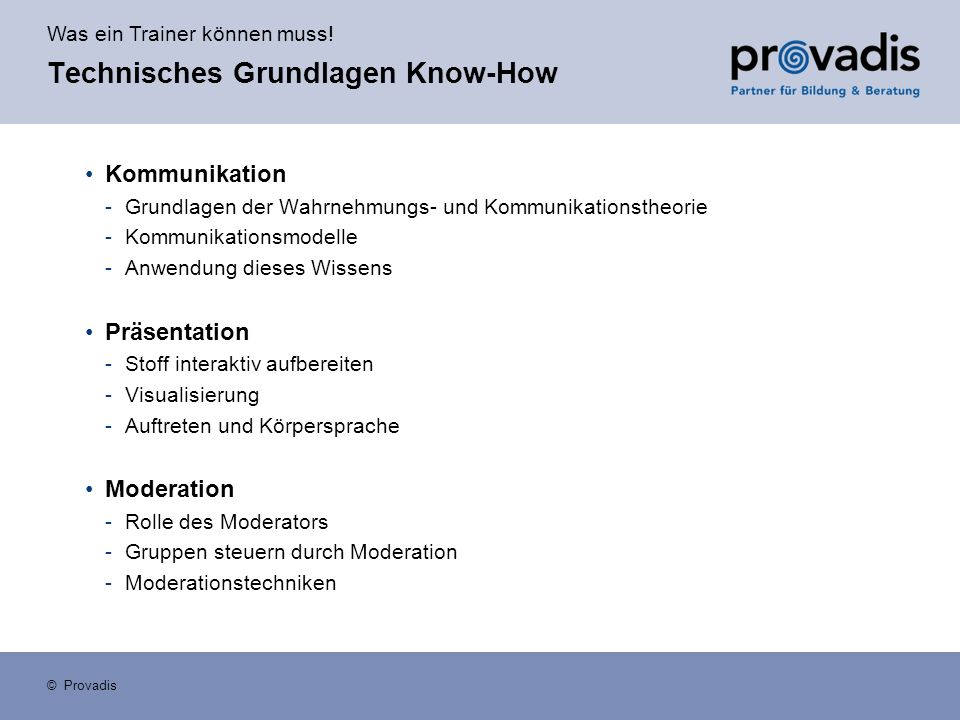 Technisches Grundlagen Know-How