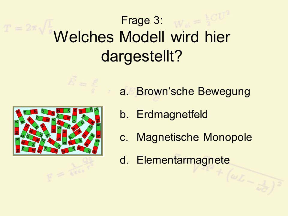 Frage 3: Welches Modell wird hier dargestellt