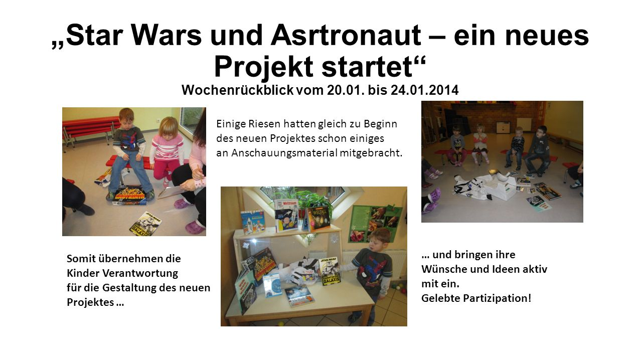 """""""Star Wars und Asrtronaut – ein neues Projekt startet Wochenrückblick vom 20.01. bis 24.01.2014"""