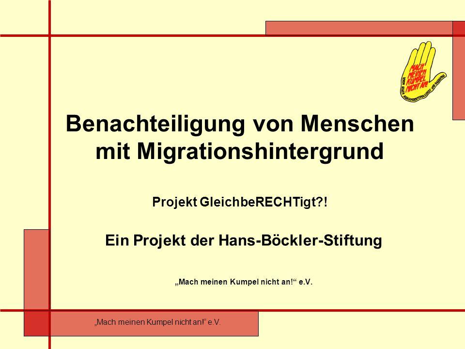 Benachteiligung von Menschen mit Migrationshintergrund