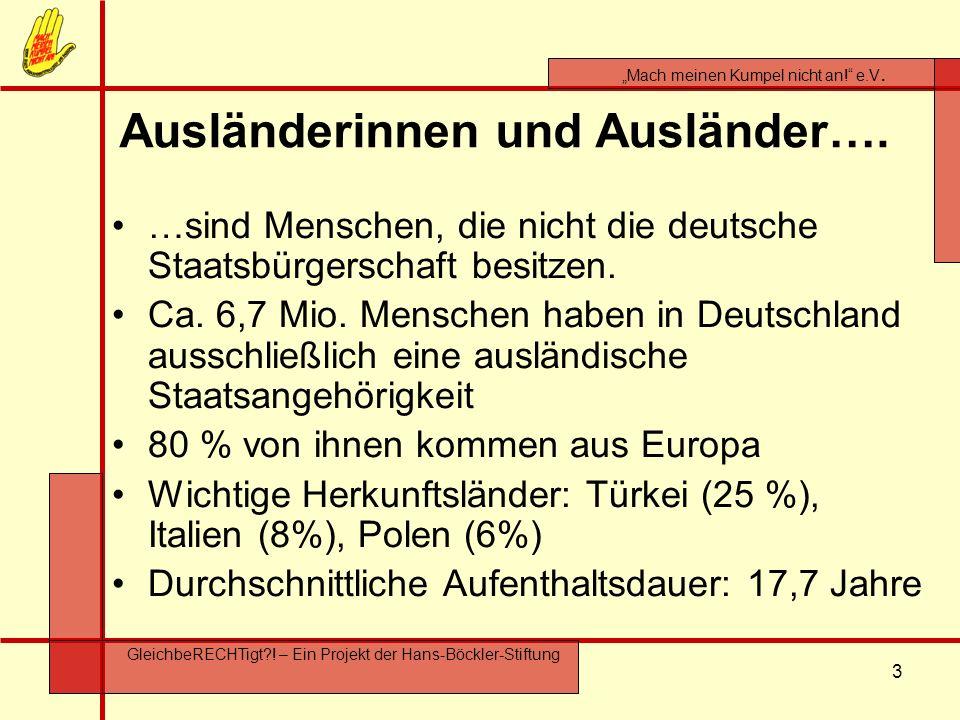 Ausländerinnen und Ausländer….
