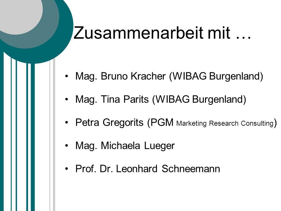 Zusammenarbeit mit … Mag. Bruno Kracher (WIBAG Burgenland)