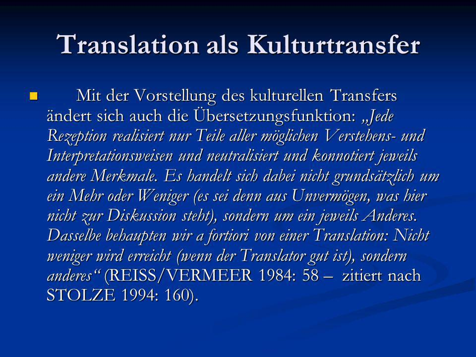 Translation als Kulturtransfer