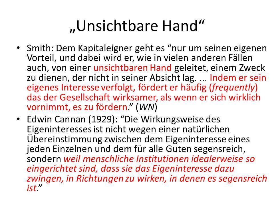 """""""Unsichtbare Hand"""