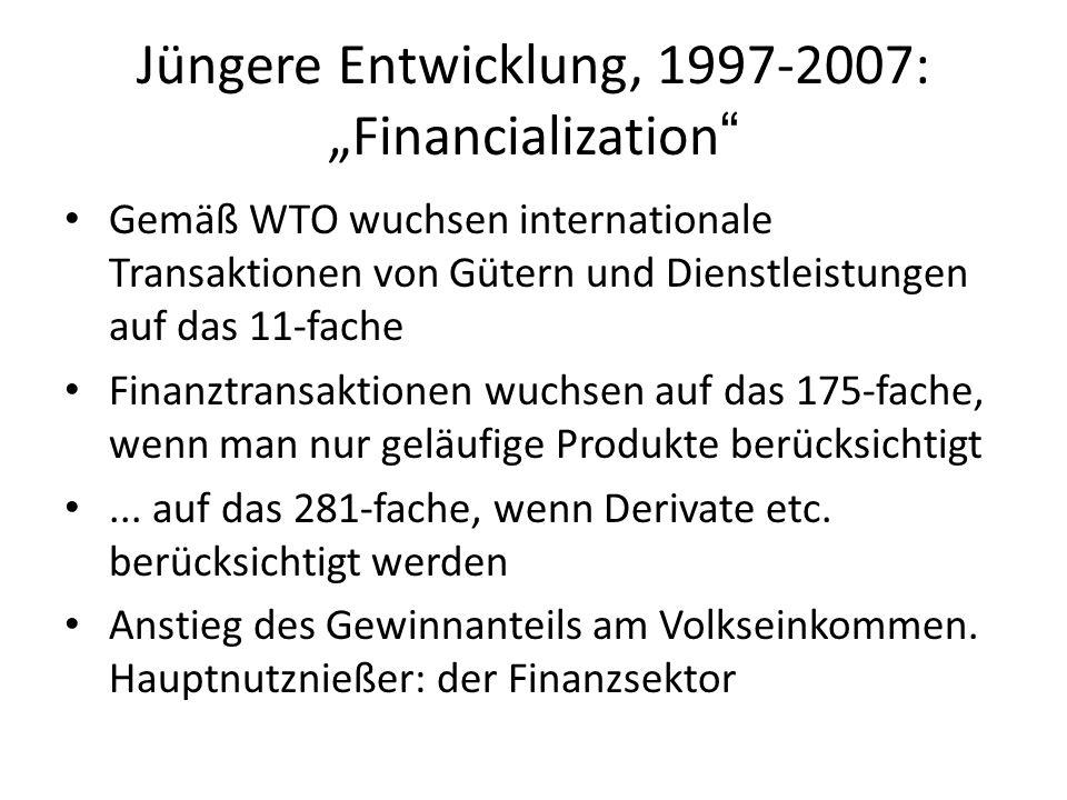 """Jüngere Entwicklung, 1997-2007: """"Financialization"""