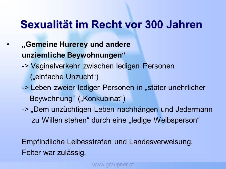Sexualität im Recht vor 300 Jahren