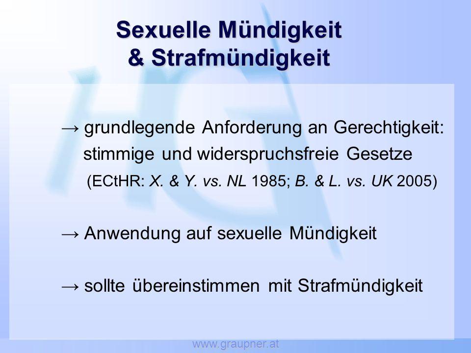 Sexuelle Mündigkeit & Strafmündigkeit
